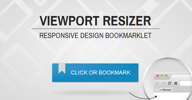 Viewport Resizer - Responsive Design Bookmarklet